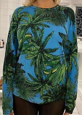 Versace H&M Jumper Sweater Palm Trees Green Medium Unisex Men's
