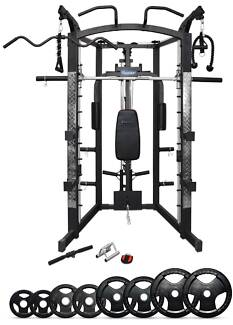 Smith Machine/ Cable crossover /Home gym + 100KG Olympic Weights