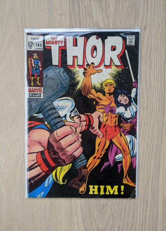 Thor #165 FN 1st Appearance of Adam Warlock Marvel Silver Age Key