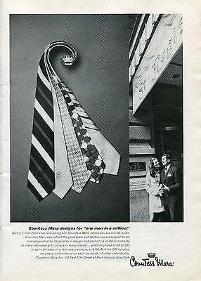 1969 Countess Mara Neckware Ties Print Ad at the St. Regis Hotel