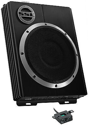 "NEW SOUNDSTORM LOPRO10 10"" 1200W Car Audio Slim Under Settle Powered Subwoofer Sub"