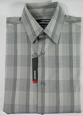 Murano Ultimate Modern Comfort Mens Casual Shirt Cotton Plaids Sz S -nwt