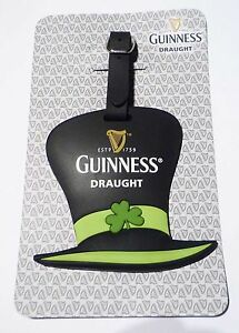 Malaysia-GUINNESS-Draught-ST-PATRICKS-HAT-Rubber-LUGGAGE-TAG-Limited-Edition