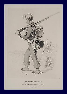 Friedrich Treml Wiener Freiwillige Revolution 1848 Wien Uniform Bajonett Affe