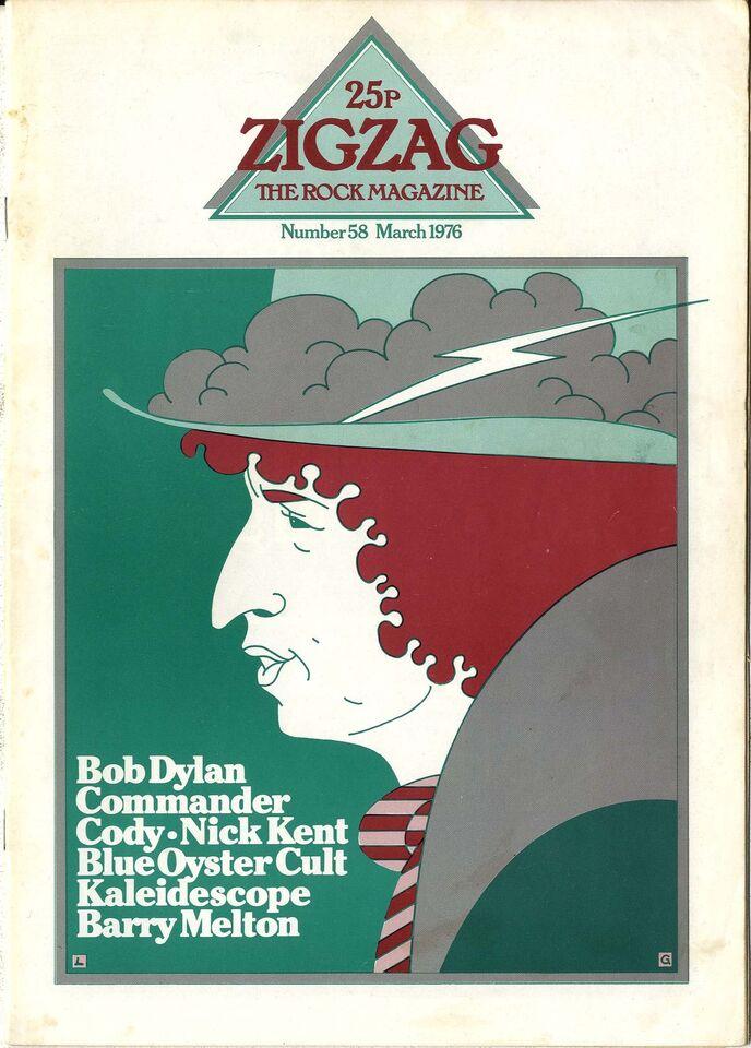 ZIGZAG No 58 March 1976 Blue Oyster Cult Kaleidoscope Barry Melton Bob Dylan