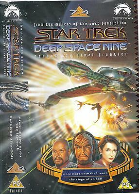 Star Trek Deep Space Nine VHS 7:4 Once More Unto The Breach/Siege of
