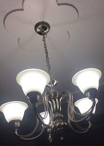5 light nickel chandelier