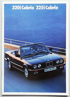 V12607 BMW SERIE 3 CABRIOLET 320i & 325i - CATALOGUE - 02/88 - A4 - NL