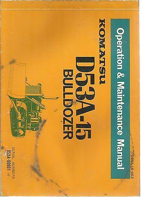 Komatsu S531-15 Bulldozer Operation Maintenance Manual