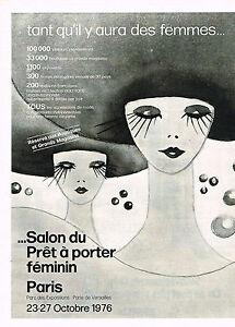 Publicite advertising 014 1975 salon du pret a porter for Salon du pret a porter