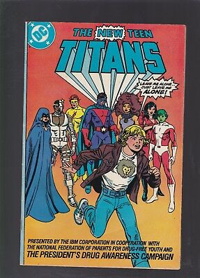 New Teen Titans Drug Awareness  2 Ibm Corporation Version From 1983