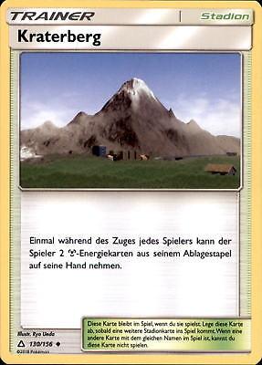 POKEMON 130 156 KRATERBERG SONNE UND MOND ULTRA PRISMA