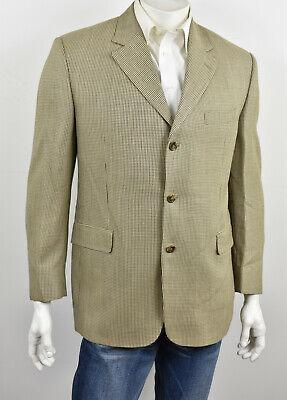JACK VICTOR COLLECTION Beige Bamboo & Wool Tweed VITALEWOOD Sport Coat 42R
