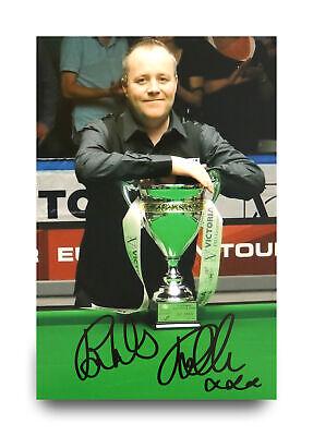 John Higgins Signed 12x8 Photo Snooker Autograph Memorabilia