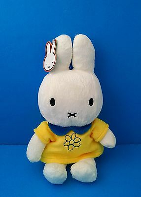 "2007 Miffy Bunny Rabbit Dick Bruna Yellow 11"" Plush Doll WITH TAGS!"