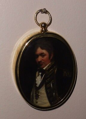Portrait Miniature of Rear Admiral Thomas Troubridge in an oval brass frame