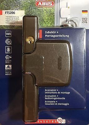 Abus Fensterzusatzschloss FTS 206 Braun Fenstersicherung Einbruchschutz NEU&OVP
