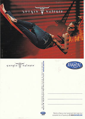 SERGIO VALENTE JEANS UNUSED ADVERTISING COLOUR  POSTCARD