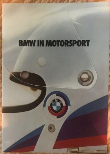BMW in motorsport 1979 brochure 811300125