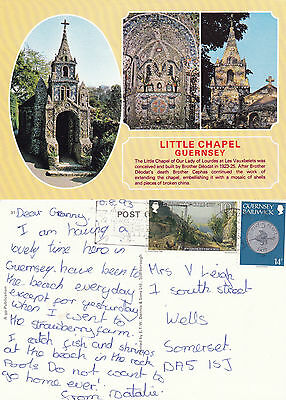 1993 THE LITTLE CHAPEL LES VAUXBELETS GUERNSEY CHANNEL ISLANDS COLOUR POSTCARD