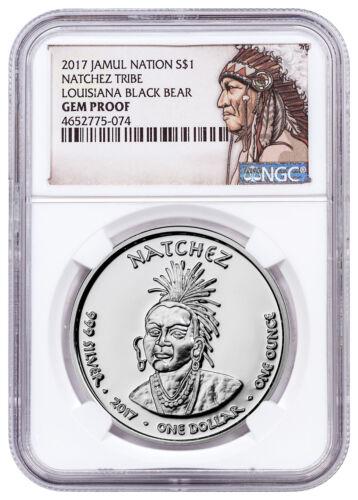 2017 Native Silver Dollar Natchez Black Bear 1 oz Silver NGC Gem Proof SKU52739