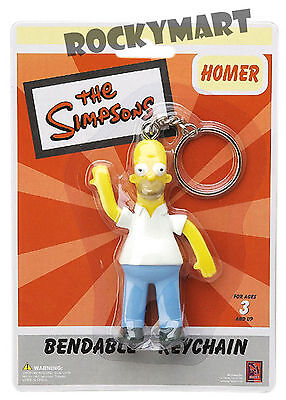 The Simpsons Homer Simpson 3.5in Bendable Keychain