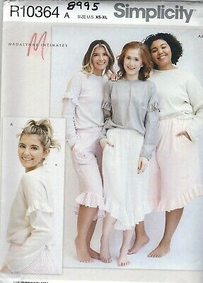 Simplicity 8995 Misses' Lounge Pants and Tops 6 to 24    Sewing Pattern Simplicity Misses Pants