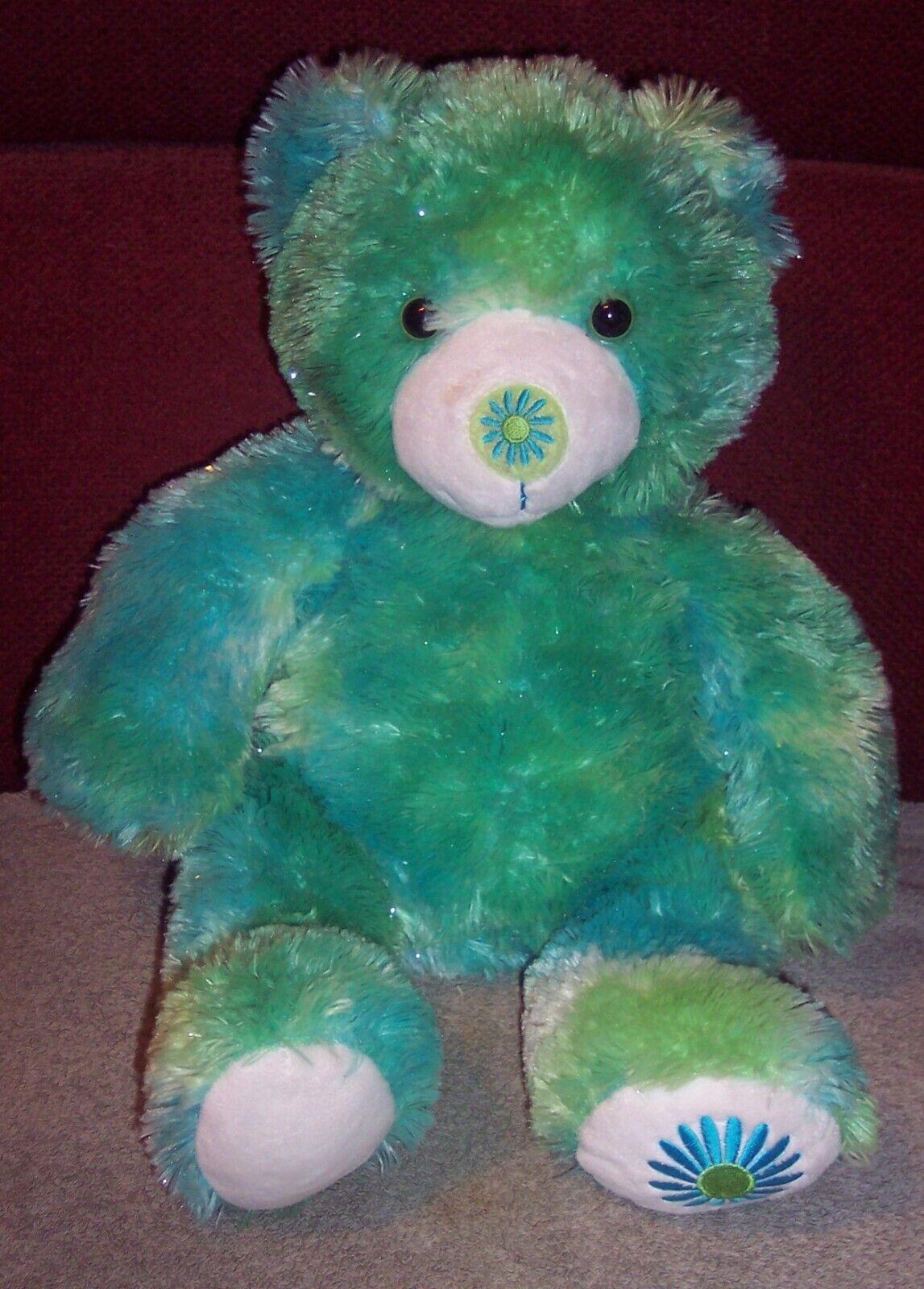 Retired BUILD A BEAR Flower Daisy Green Blue Friend Fur All Seasons Summer 15  - $24.99