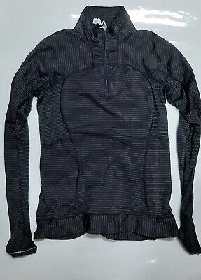 Lululemon Workout Athletic1/2 Zip Jacket in Black Size 8 ++ A+CONDITION++