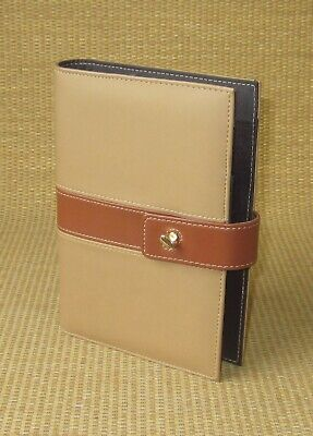 Portablecompact Day-timer Brown Sim. Leather Open Plannerbinder W Latch
