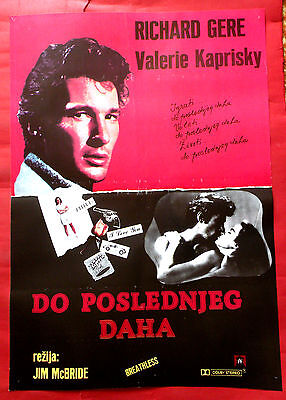BREATHLESS 1983 RICHARD GERE VALERIE KAPRISKY ART METRANO RARE EXYU MOVIE POSTER