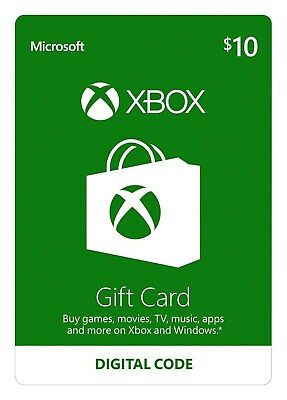 10$ Xbox Live 10$ Xbox Gift Card Microsoft Only ForXbox One, Xbox 360