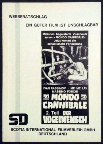 Jungle Holocaust - Last Cannibal World  - German Pressbook * Deodato * Zombie *