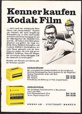 3w1671/ Alte Reklame von 1960 - Kenner kaufen KODAK-Film - Kodak Stuttgart