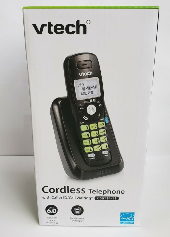 Vtech DECT 6.0 Cordless Telephone w/ Caller ID/Call Waiting (CS6114-11)