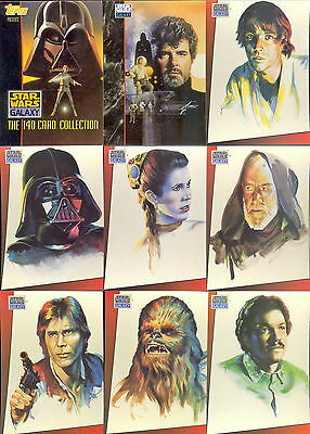 STAR WARS GALAXY SERIES 1 1993 TOPPS COMPLETE BASE CARD SET OF 140