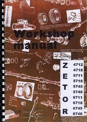 Zetor 4712 4718 5711 5718 5745 5748 6711 6718 6745 6748 Tractor Workshop Manual  na sprzedaż  Wysyłka do Poland
