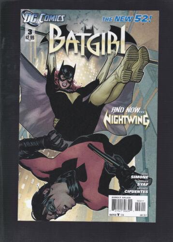 Batgirl #3 2011 4th Series! Adam Hughes Cover! Nightwing Appearance!