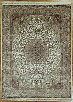 Classic Collection Teppich (Ivory Rug 8' x 12' Tabriz Silk High End Classic Collection Handmade Rug)
