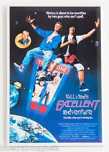 Bill-Teds-Excellent-Adventure-FRIDGE-MAGNET-2-x-3-inches-movie-poster