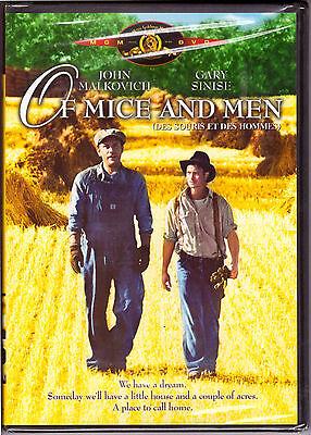 Of Mice And Men  Dvd Movie  Region 1  1 Disc  Drama  John Malkovich  New