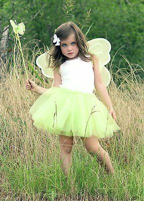 Fairy Princess Costume Tutu Set with Butterfly Fairy Wing and Butterfly Wand](Wands And Wings)