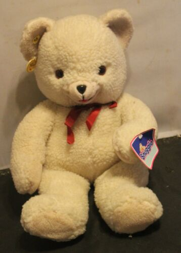 """Vtg 1986 Lever Bros Snuggle Teddy Bear Plush 22""""  Russ Jumbo Large Toy WITH TAGS"""