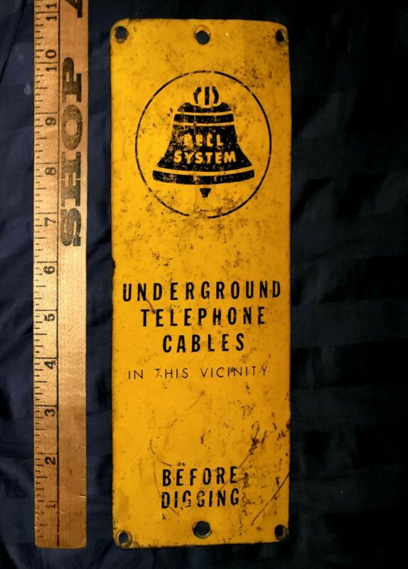 Vintage Bell systems telephone company sign