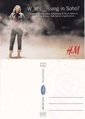 H&M FASHION & CLOTHING UNUSED ADVERTISING COLOUR POSTCARD