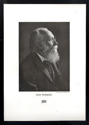 Julius Christian Stockhausen Der deutsche Musiker und Dirigent Kunstdruck v.1906