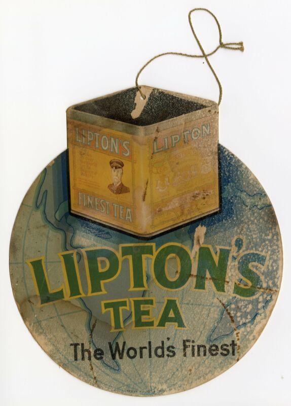 Antique Die-Cut Promotional Lipton