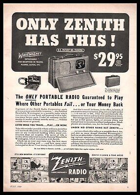Zenith Portable am fm Radio model RHY8Y