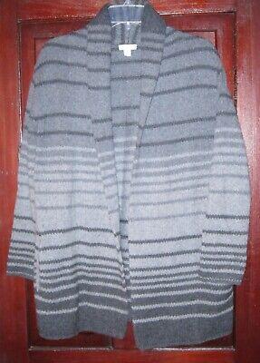 J. Jill Size XS S Cardigan Sweater Coat Open Shawl Indian Blanket Pockets Ombre
