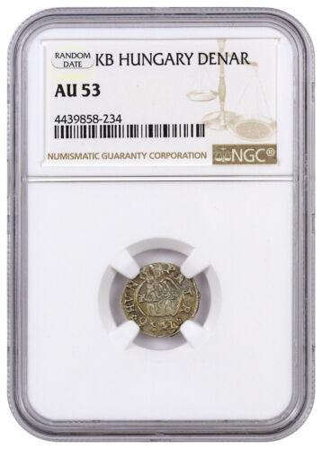 Random Date 1450-1620 Hungary Silver Denar Madonna & Child NGC AU53 SKU44478